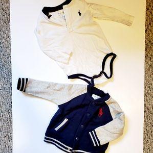 Ralph Lauren baby jacket and onsie set